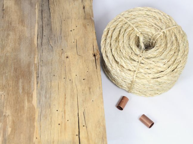 wood rope copper pipe