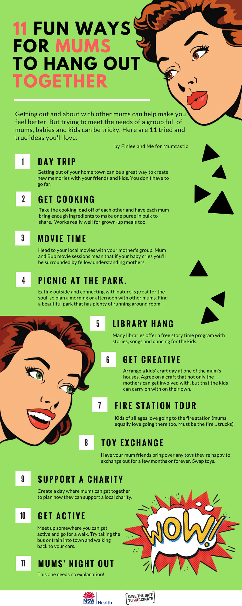 INFOGRAPHIC - 11 fun things for mums to do together