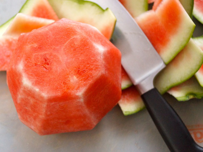 watermelon with sides cut off