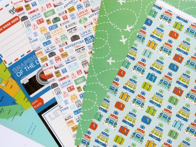 travel-scrapbook-paper-with-airplanes-and-luggage