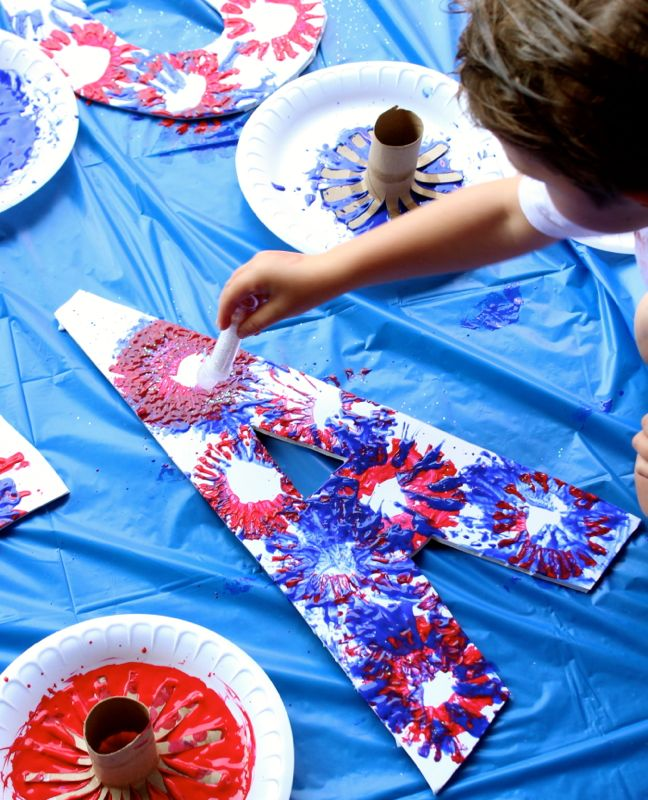 red-white-blue-fireworks-sparkles-art-project