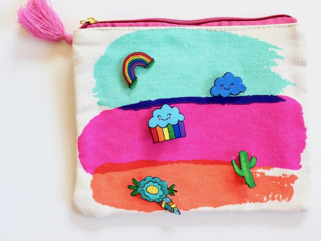 Get Pin Happy With These Colorful DIY Lapel Pins