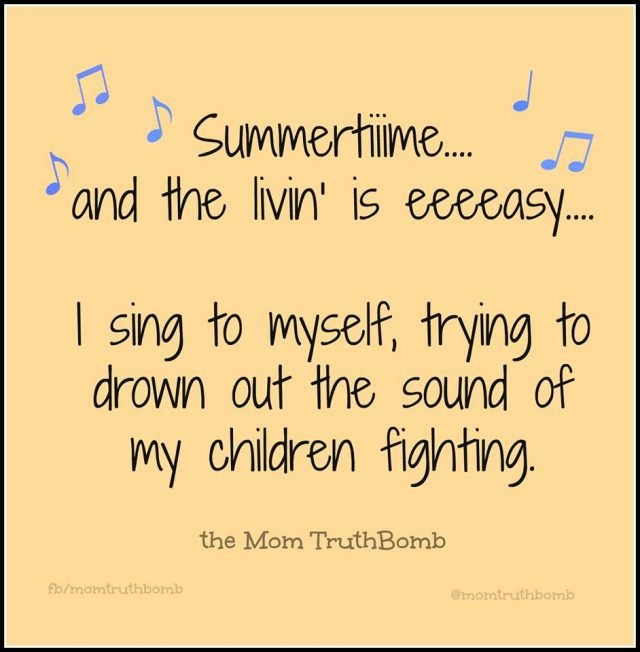 The funniest memes about summertime with the kids on @itsMomtastic by Kim Bongiorno featuring The Mom TruthBomb