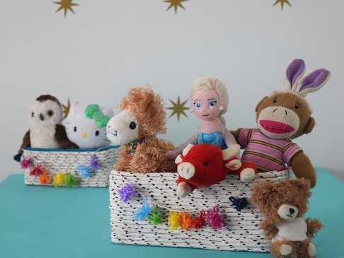 DIY Rope Baskets to Organize Your Kid's Stuff