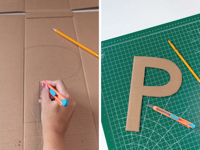 These Easy Yarn Wrapped Letters Make Great Kids Room Decor