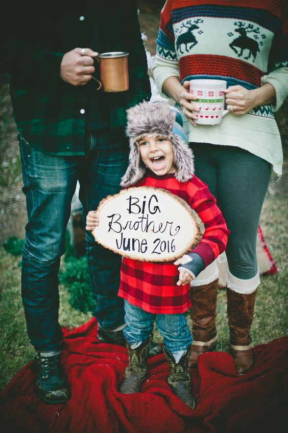 Holiday Themed Pregnancy Announcement Ideas Gallery