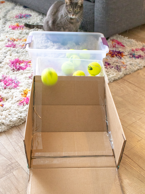 Play Inside with this DIY Cardboard Skee Ball Game