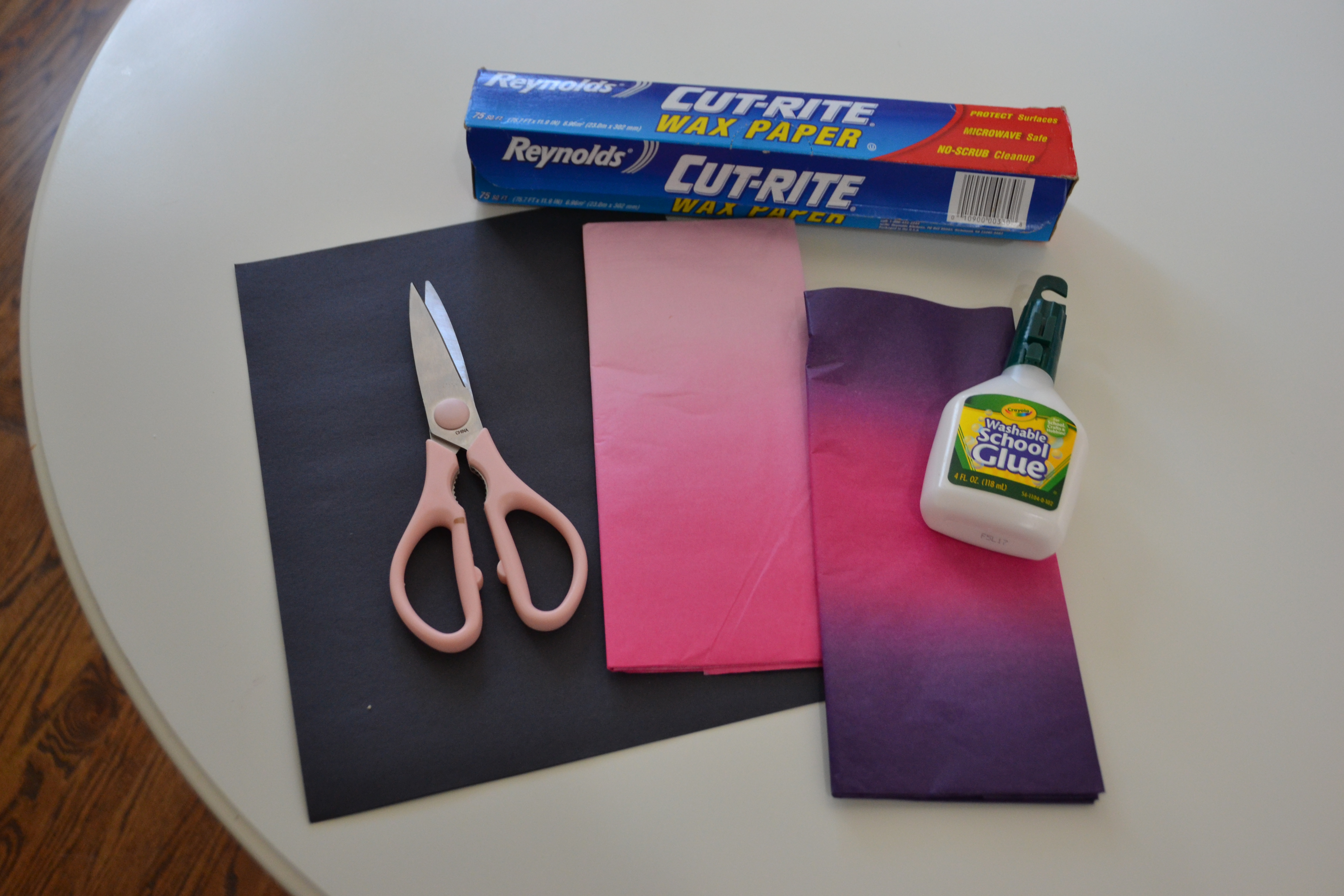 """Easy """"Stained Glass"""" Valentines to Make with your Kids"""