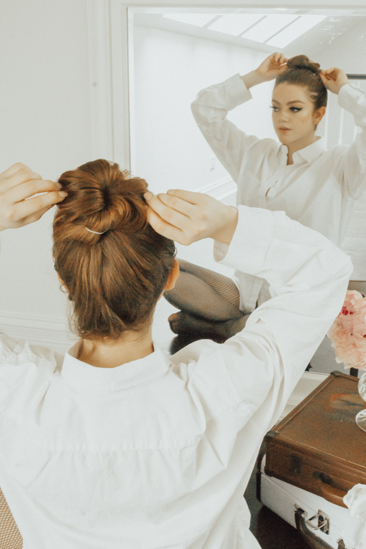 How To Style A Hair Bun For Spring (Without Product)