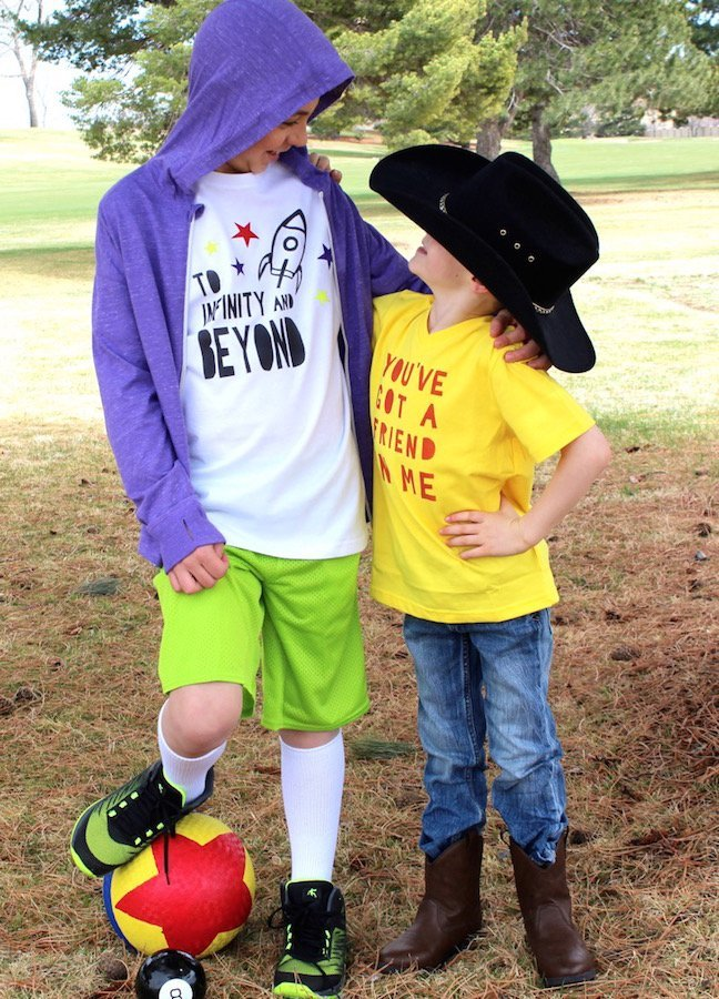 Celebrate Toy Story Land at Disney With DIY Woody and Buzz Shirts
