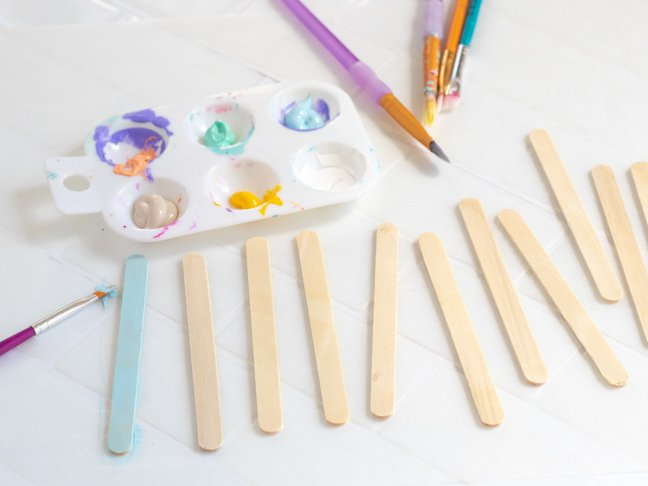 Dads Will Love This Painted Popsicle Stick Planter for Father's Day