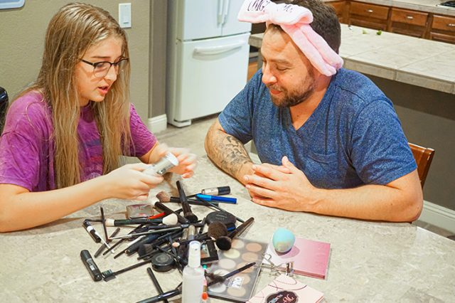 This Dad Bonds With His Daughter By Doing Makeup Tutorials With Her