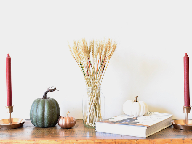DIY Fall Wheat Bundle With a Pop of Color
