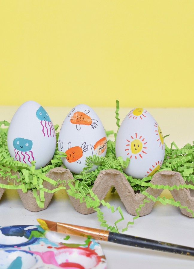 Impress the Easter Bunny With DIY Thumbprint Eggs