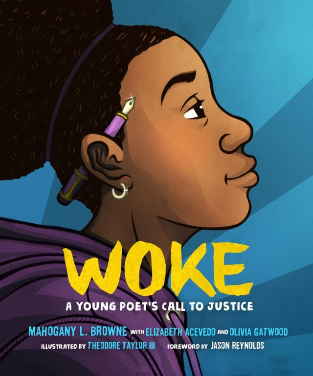 How to Make Sure Your Kids Have a Diverse Bookshelf (and Actually Read from It) @letmestart on @itsMomtastic | Raising readers, kind kids, and encouraging empathy. Featuring the book WOKE: A Young Poet's Call to Justice byMahogany L. Browne,Elizabeth Acevedo,Olivia Gatwood,Jason Reynolds; Illustrated byTheodore Taylor III