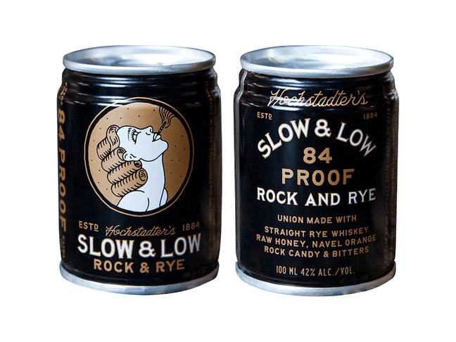 Slow and Low Rock and Rye Whiskey Canned Cocktail
