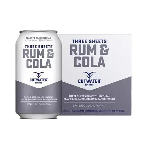 Three Sheets Rum Cola Canned Cocktail