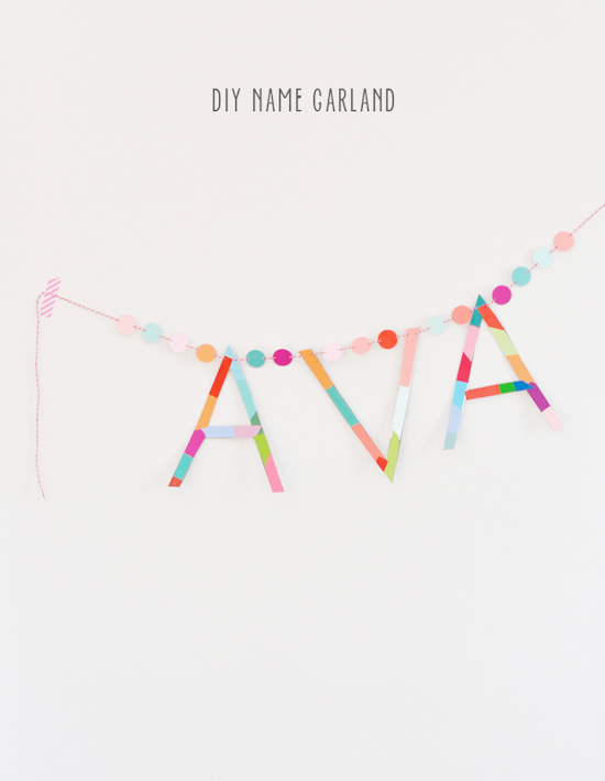 Paint Chip Name Garland
