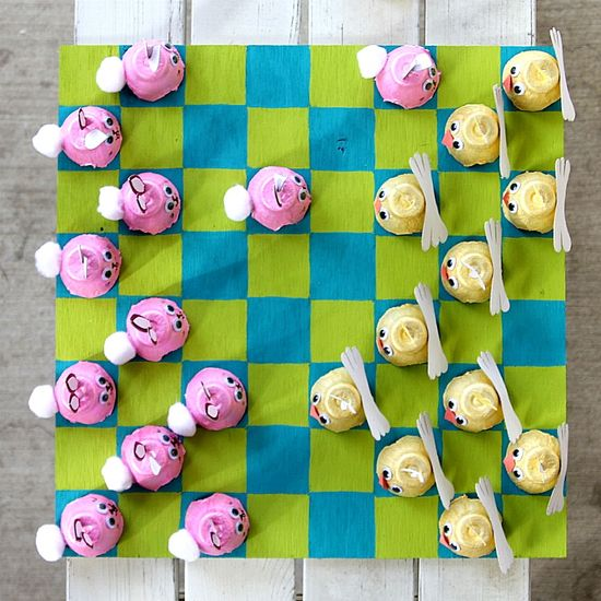 DIY Easter Checkers