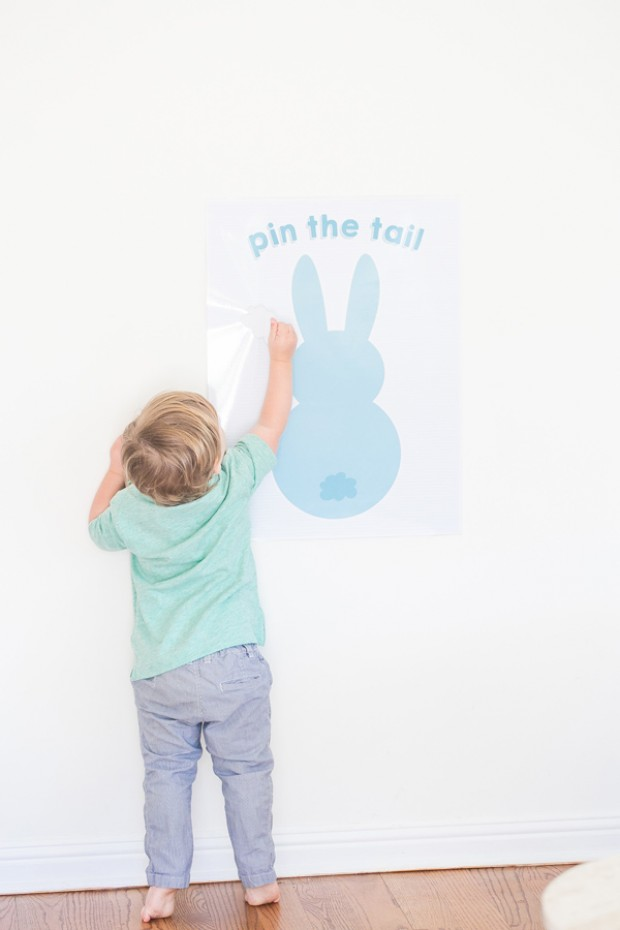 Printable Pin the Tail on the Bunny Easter Game