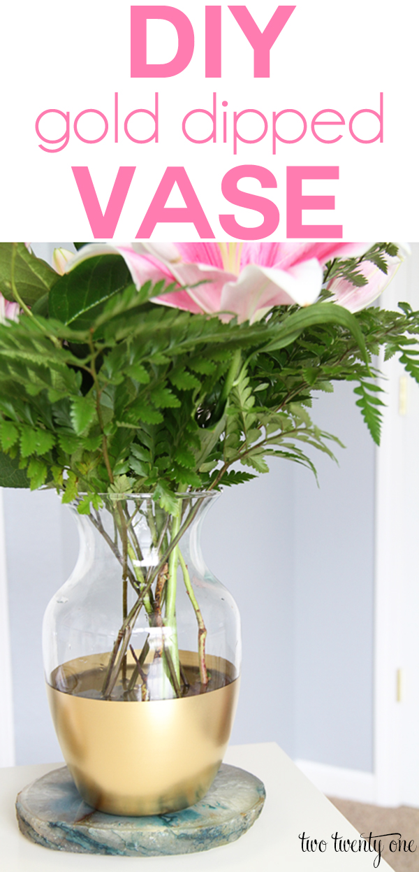 Gold-Dipped Glass Vase