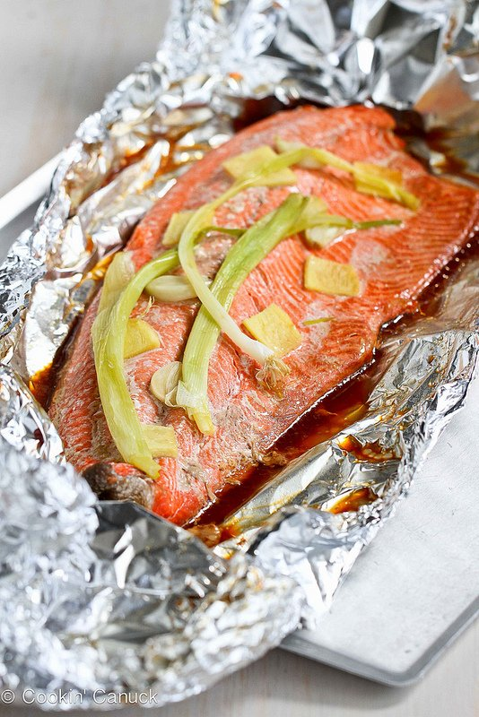Grilled Salmon with Soy & Ginger