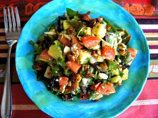 Mexican Chopped Salad with Spiced Pepitas and Honey-Chipotle Lime Dressing