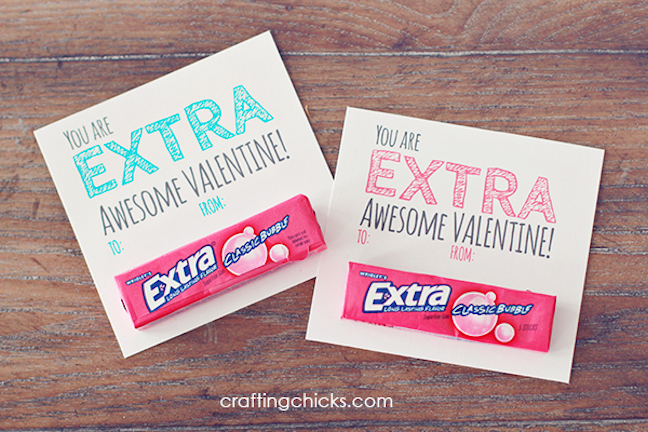Extra Awesome Gum Valentines