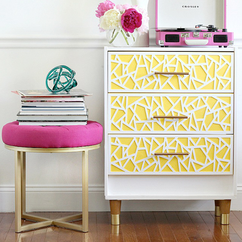 Bright Geometric Dresser from Bliss at Home
