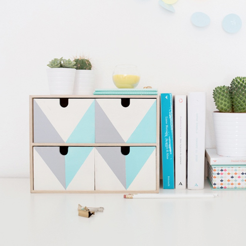 Customized Small Storage Drawers from Brit + Co
