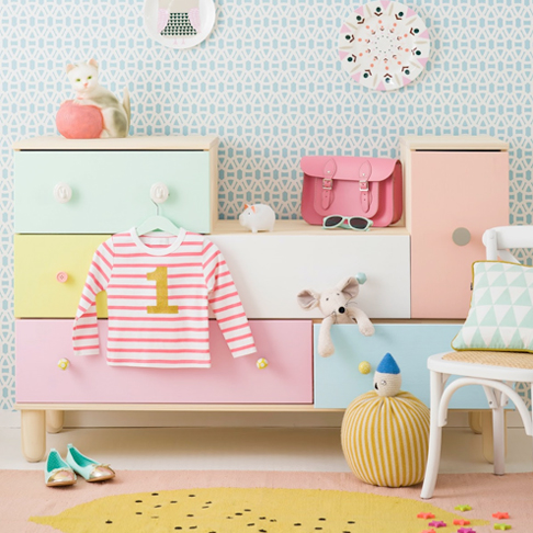 Colorful Chest of Drawers Upgrade by Charlotte Lovey