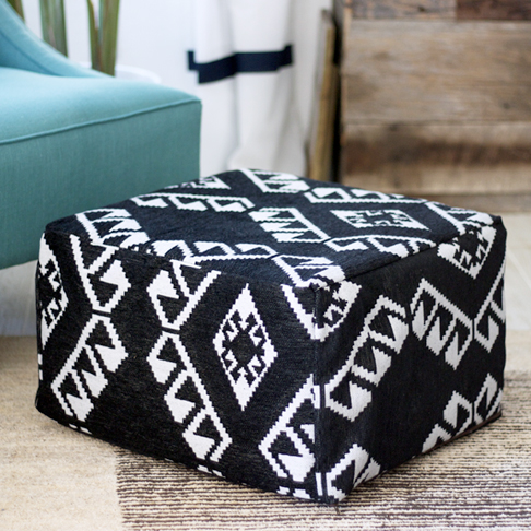 Upholstered Pouf Hack from Kristi Murphy
