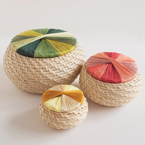 Colorful Wrapped Small Storage Baskets from Tell Love and Party