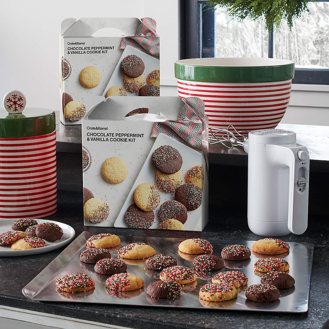 Chocolate Peppermint and Vanilla Cookie Exchange Kit - $16.95