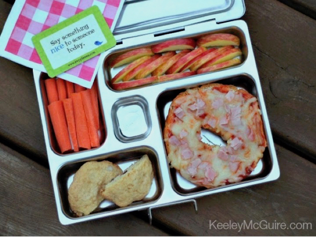 Pizza Bagel Toddler Lunch