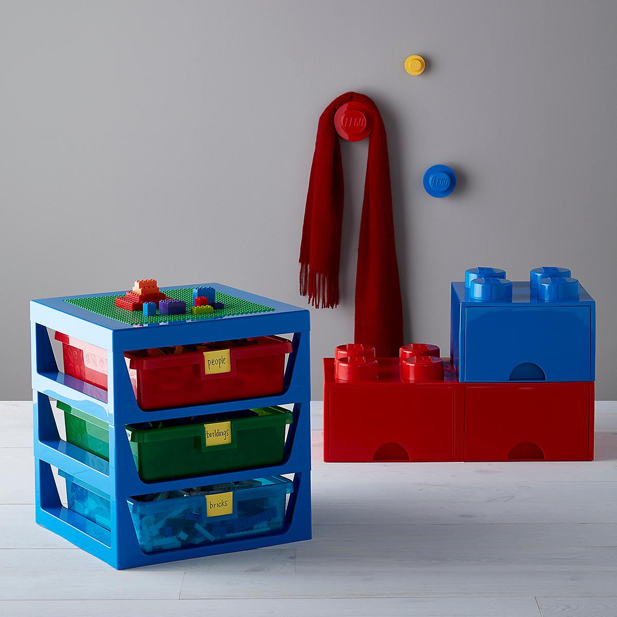 Lego 3-Tier Drawer Organizer with Baseplate
