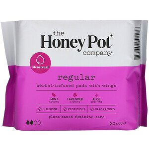 The Honey Pot Company Overnight Herbal Pads with Wings