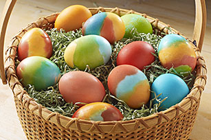 Tie-Dye jelly crystals Easter Eggs