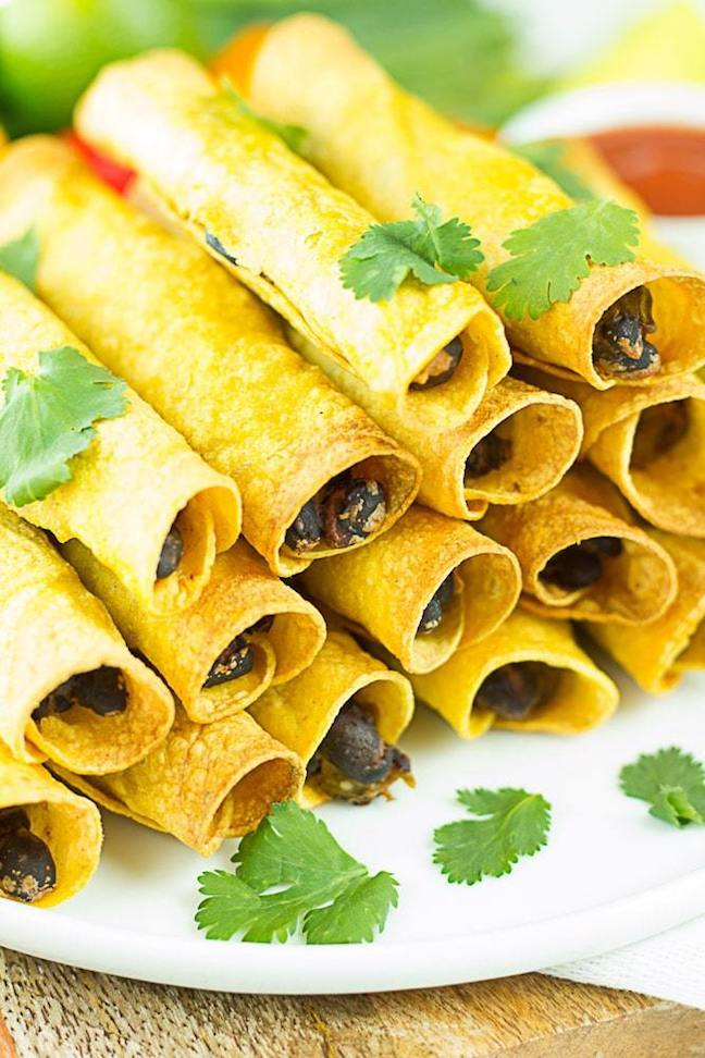 Vegan Oven Baked Taquitos